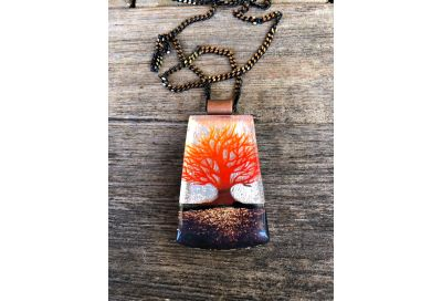 Part 2 - Creating Depth & Drama in Fused Glass Jewelry: Reactive Backgrounds, Multi-Color Printing & Layering Images w/ Tanya Veit
