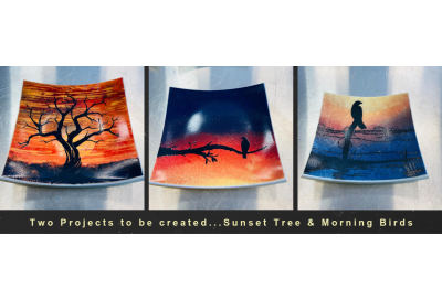 Video Tutorial: Big Mouth & Simple Screen Trays • Part 1: Sunset Tree & Morning Birds w/ Tanya Veit • Free Video