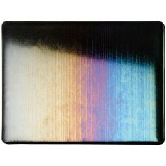 Bullseye Black Opalescent Accordion Iridescent Rainbow