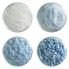 Powder Blue Opalescent Bullseye Frit