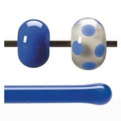 Bullseye Cobalt Blue Opalescent, Rod, Fusible, Each