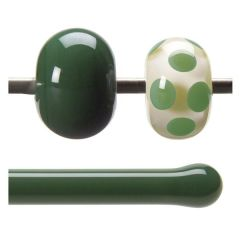 Bullseye Dark Forest Green Opalescent,Rod, Fusible Each