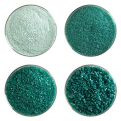Teal Green Opalescent Bullseye Glass Frit