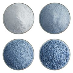 Dusty Blue Opalescent Bullseye Frit