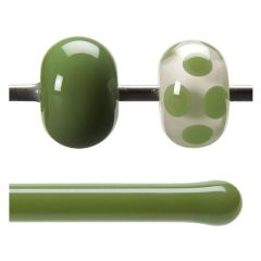 Bullseye Olive Green Opalescent, Rod, Fusible, Each
