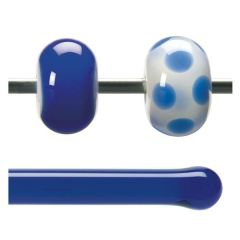 Bullseye Deep Royal Blue Transparent, Rod, Fusible, Each