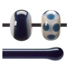 Bullseye Midnight Blue Transparent, Rod, fusible, Each