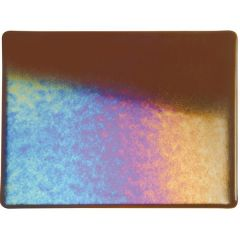 Bullseye Sienna Transparent Double Rolled Iridescent Rainbow