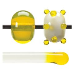 Bullseye Yellow Transparent, Rod, Fusible, Each