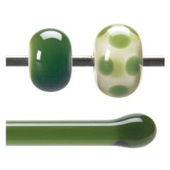 Bullseye Olive Green Transparent, Rod, Fusible, Each