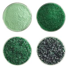 Kelly Green Transparent Bullseye Frit