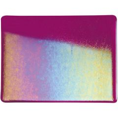 Bullseye Fuchsia Transparent Double Rolled Iridescent Rainbow
