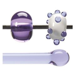 Bullseye Neo Lavender Shift Transparent, Rod, Fusible, Each