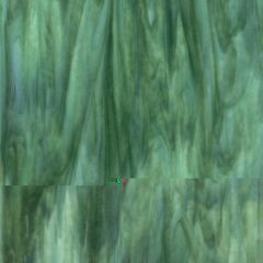 Bullseye Mint Opalescent, Deep Forest Green Transparent 2-Color Mix, Double-rolled, 3 mm, Fusible