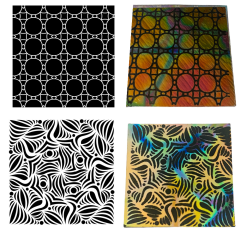 Reusable Abstracts 2 Pack Simple-Etch Screens for Dichroic Glass Etching