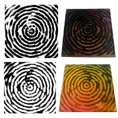 Reusable Spiral Madness 2-Pack Simple-Etch Screens for Dichroic Glass Etching