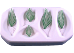 Assorted Small Leaves Glass Casting Mold