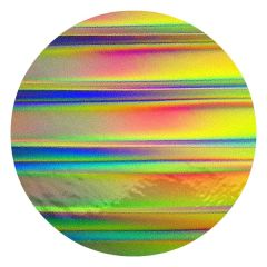 "Tropical Rays 2"" Stripes Thin Dichroic Glass CBS 90 COE"