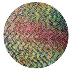 Mixture Twizzle Pattern Cobblestone Texture Wafer Thin Dichroic Glass CBS