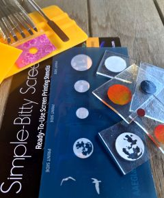 Suns & Moons Simple-Bitty Screen Ready-to-Use Screen Printing Stencil