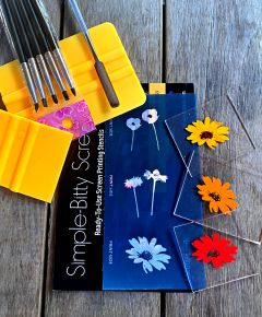 Flowers Simple-Bitty Screens Ready-to-Use Screen Printing Stencils