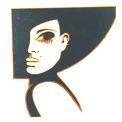*Discontinued Item* Fashionista Woman Silver Metallic & Black Fusible Enamel Decal