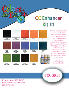 Colors For Earth Glass Enhancer Color Concentrate Kit - CFE