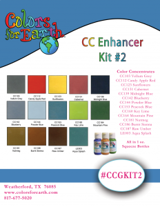 Colors For Earth Glass Enhancer Color Concentrate Kit #2  - CFE