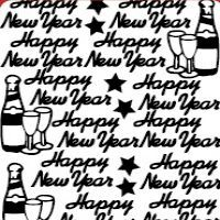 Happy New Year Etching & Sandblasting Sticker Sheet