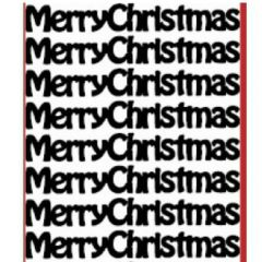 Merry Christmas Text Etching & Sandblasting Sticker Sheet