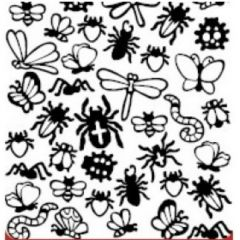 Bugs and Flies Etching & Sandblasting Sticker Sheet