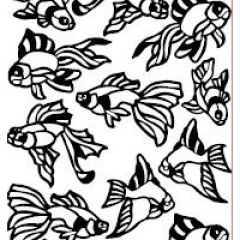 Goldfish Party Etching & Sandblasting Sticker Sheet