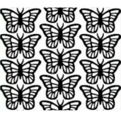 Small Butterfly Etching & Sandblasting Sticker Sheet