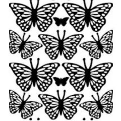 Assorted Butterflies Etching & Sandblasting Sticker Sheet