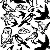 Bird Party Etching & Sandblasting Sticker Sheet