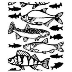 Lake Fish Etching & Sandblasting Sticker Sheet