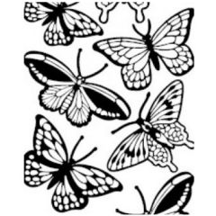 Large Butterflies Etching & Sandblasting Sticker Sheet