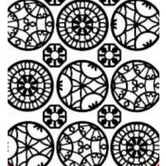 Ornamental Circles Etching & Sandblasting Sticker Sheet