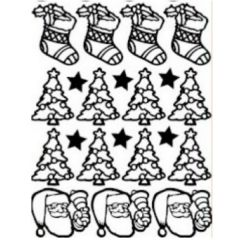 Christmas Cheer Etching & Sandblasting Sticker Sheet