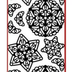 Mandalas V Etching & Sandblasting Sticker Sheet