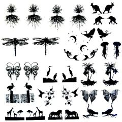 "Earring Designs 4"" x 4"" Fusible Decal Sheet"