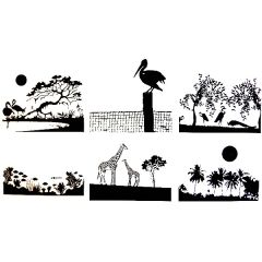 Tropical Scenes  Fusible Decal Sheet
