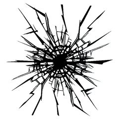 *Discontinued Item* Cracked Glass Large Enamel Fusible Decal
