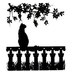 Window Cat Enamel Fusible Decal