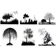 "Forest Scenes 4"" x 4"" Fusible Decal Sheet"