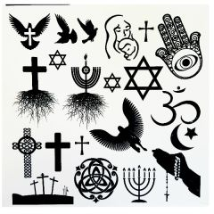 Religion Enamel Fusible Decal