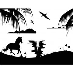 Horse In The Wild Enamel Fusible Decal