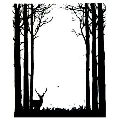 Forest Border Enamel Fusible Decal