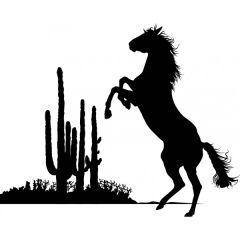 Bucking Horse Enamel Fusible Decal