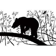Black Bear Enamel Fusible Decal